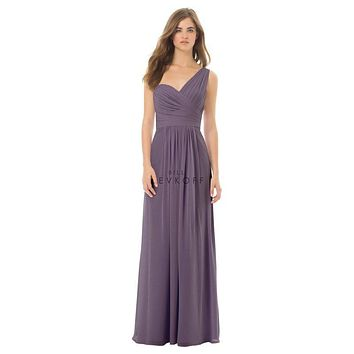 Bill Levkoff 492 Wide One Shoulder Pleated Bridesmaid Dress