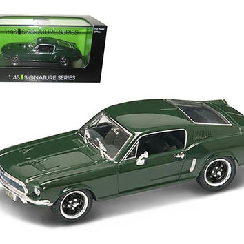 1968 Ford Mustang GT Green 1-43 Diecast Car Model Signature Series by Road Signature