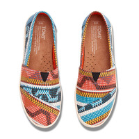 MULTI CANVAS GEOMETRIC WOMEN'S AVALON SLIP-ONS