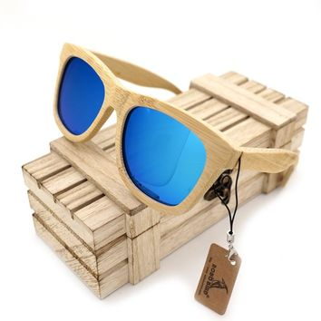BOBO BIRD Wooden Bamboo Sunglasses Polarized Lens Sun Glasses Wood box