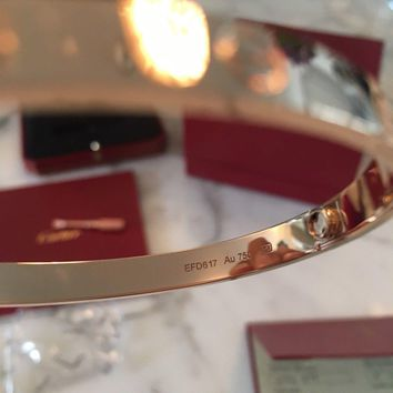 One-nice? Cartier Pink Gold Love Bracelet New Boxed Sold Out 18