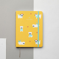 Pugs 2016 Gold Foil Personalized Planner
