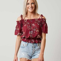 DAYTRIP COLD SHOULDER CROPPED TOP
