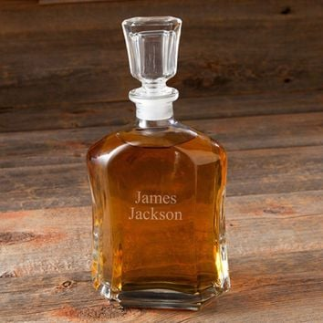 Whiskey Glass Decanter ~ Personalized