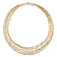 """Marco Bicego18K Yellow Gold Marrakech Couture Coiled Five Strand Necklace with Diamonds, 16.5"""" - Trunk Show Exclusive"""
