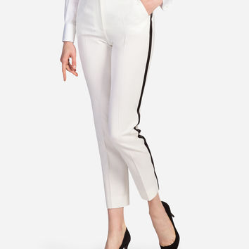 Trousers and leggings for women | Dolce&Gabbana - WOOL TUXEDO PANTS