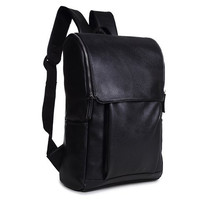 Backpack With PU Leather and Zipper Design