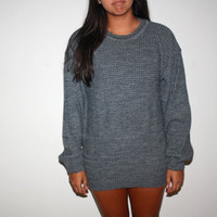 1980's Oversized Grey Sweater.