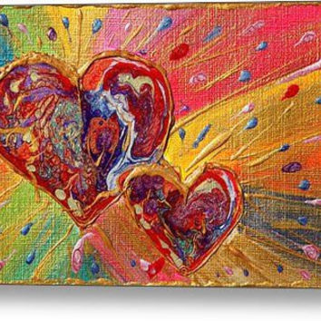 Love Hearts Art, Abstract Print, Valentines Day, romantic painting, love painting, red hearts art, passion, Valentines Gifts, colorful art