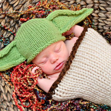 Baby Yoda Hat, Baby Star Wars, Newborn Yoda Hat, Yoda Costume, Newborn Photo Prop, Yoda Hat