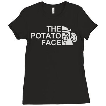 potato face Ladies Fitted T-Shirt