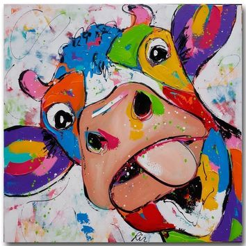 Animal Canvas Paintings Modern Cow Oil Paintings For Living Room Decoration Wall Art Print Posters Decoration Pictures no Framed