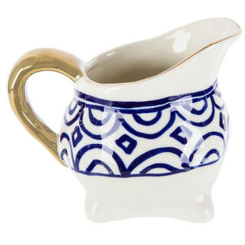 Arches & Diamonds Creamer With Gold Handle | Hobby Lobby | 5139704