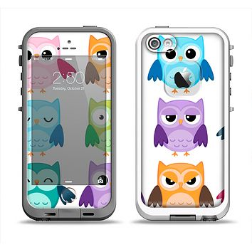 The Emotional Cartoon Owls Apple iPhone 5-5s LifeProof Fre Case Skin Set