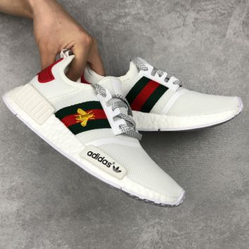 Gucci x Adidas NMD Fashion Casual Men Women Embroidery Little Bee Trending Sports Shoes Sneakers G