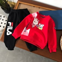 Fendi Girls Sweaters Children's pullover Floral Sweater Girls pullover baby girls Autumn&winter clothes Kids thick Suit