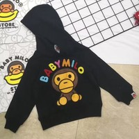 Bape Girls Boys Children Baby Toddler Kids Child Fashion Casual Top Sweater Pullover Hoodie