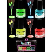 Amazon.com: Glow In The Dark And Under Black Light Nail Polish 4-Piece Set AL#GG10912: Everything Else