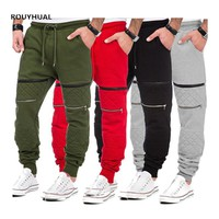 ROUYHUAL Jogger Men Fitness Bodybuilding Pants For Casual Joggers Sweatpants