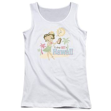 Betty Boop - Hot In Hawaii Juniors Tank Top