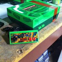 Teenage Mutant Ninja Turtles Custom Nintendo With Controller
