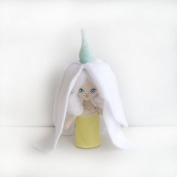Snowdrop Art cloth (rag) Doll Collectible - Textile, Fiber