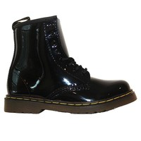 Dr Martens Kids Delaney - Black Patent Lace-Up Bootie