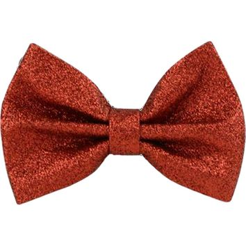 Glitter Hair Bow, Red