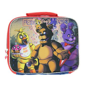 FNAF Lunch Box Soft Kit Insulated Cooler Bag Five Nights at Freddy's