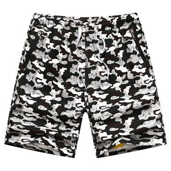Summer Camouflage Shorts Men Cotton Loose Shorts