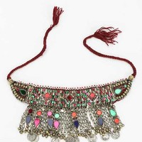 Marrakesh Statement Bib Necklace- Gold One