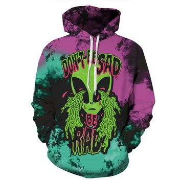 new Halloween Costumes For Men/Women Crying Aliens Print 3d Hoodies Autumn Long Sleeve Hooded Sweatshirts Hoody Pullovers