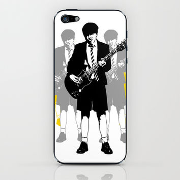 Angus Young iPhone & iPod Skin by Alan Hogan
