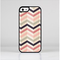 The Pink-Tan-Black Zigzag Pattern Skin-Sert for the Apple iPhone 5-5s Skin-Sert Case