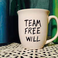 Supernatural Sharpie Mug 'Team Free Will'