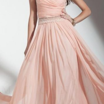 Illusion two piece prom dresses by Mignon