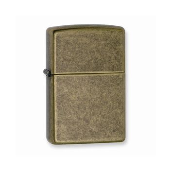 Zippo Antique Brass Lighter - Engravable Personalized Gift Item