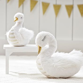 Faux Fur Swan Plush | Pottery Barn Kids