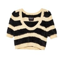 Nasty Gal Soft Stripe Crop Knit