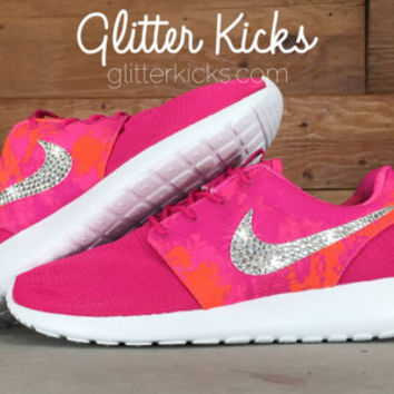 Bling Women's Nike Roshe Run Blinged Out With Swarovski Crystal Rhinestones - Nikes, Bling Shoes, Blinged out Nikes - Glitter Kicks - Shoes