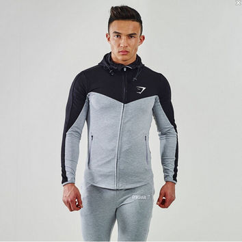 Gymshark Hoodies Camisetas Masculina Hombre Coat Bodybuilding And Fitness Hoodies Sweatshirts Muscle Men's Sportswear