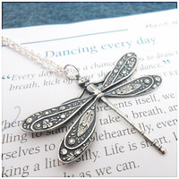 Dragonfly Stamping Necklace Eating Disorder by PeriwinkleParadise