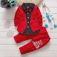Spring Autumn Baby Boys Clothing Set Casual Kids Sport suit Infant Toddler Boys Clothes Top Coat + Pants Tracksuit Set