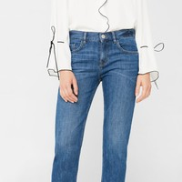 Relaxed crop cigar jeans - Women | MANGO USA