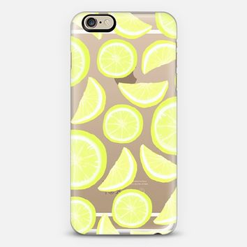 Lemon Citrus (transparent) iPhone 6 case by Lisa Argyropoulos | Casetify