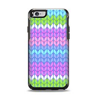The Bright-Colored Knit Pattern Apple iPhone 6 Otterbox Symmetry Case Skin Set