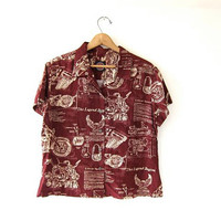 vintage Harley Davidson shirt. short sleeve shirt. button up shirt.