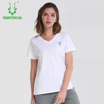 Vansydical Womens Yoga Shirts Sexy Sports Top Breathable Yoga T-Shirt Fitness Womens Workout Top Running Sport Tee Gym Clothes