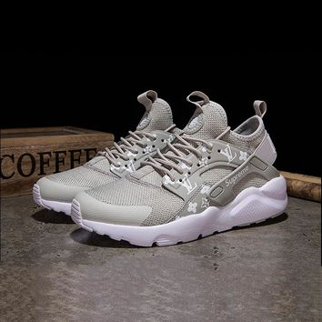 Best Online Sale LV X Supreme Nike Air Huarache Custom Grey Wh