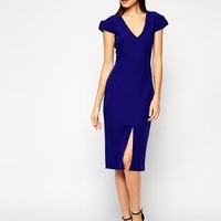 ASOS | ASOS Structured Dress with V Neck at ASOS